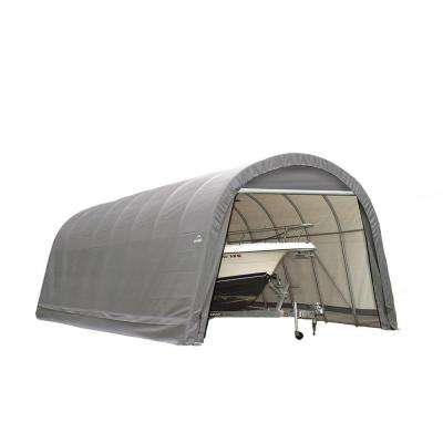 ShelterCoat 15 ft. x 20 ft. Wind and Snow Rated Garage Round Gray STD