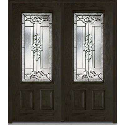 Front doors exterior doors the home depot 74 in x 8175 in cadence right hand 34 lite decorative planetlyrics Choice Image