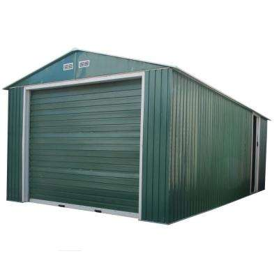 Imperial 12 ft. x 20 ft. x 6.9 ft. Green Metal Garage without Floor