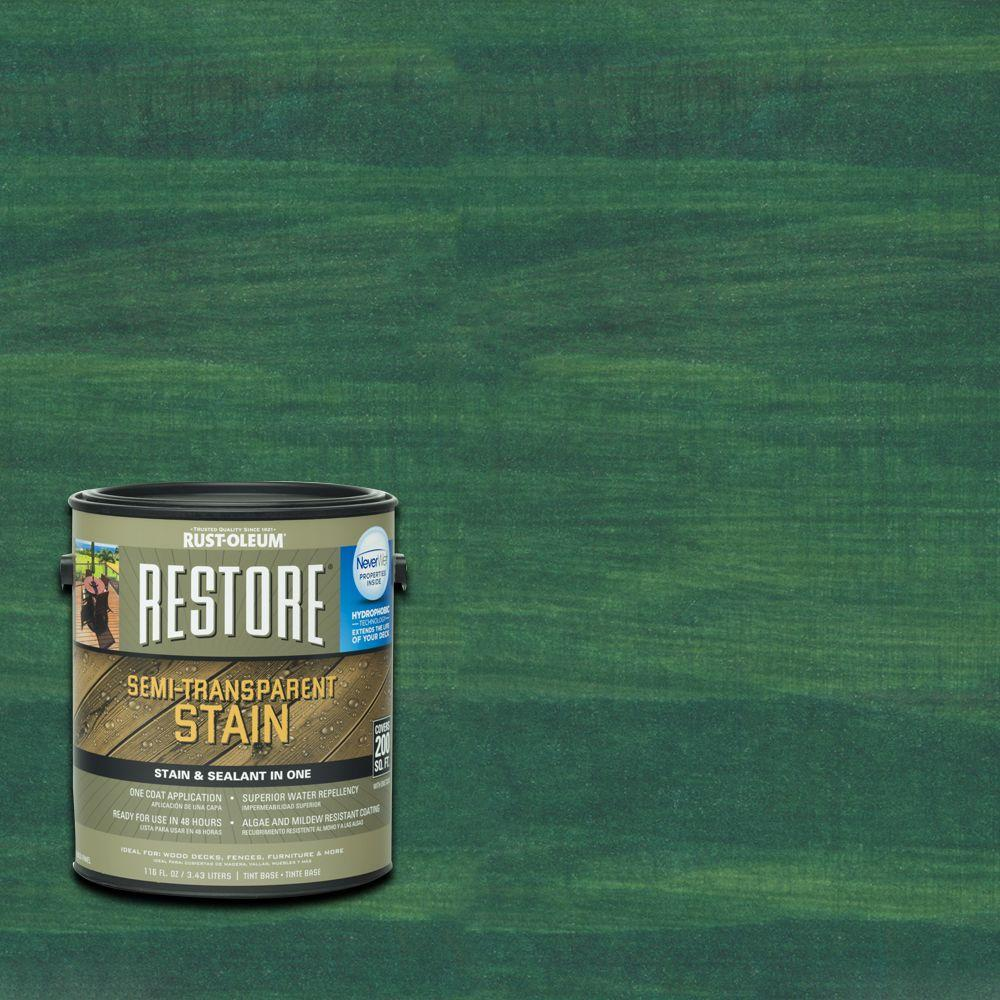 1 gal. Semi-Transparent Stain Charleston Green with NeverWet