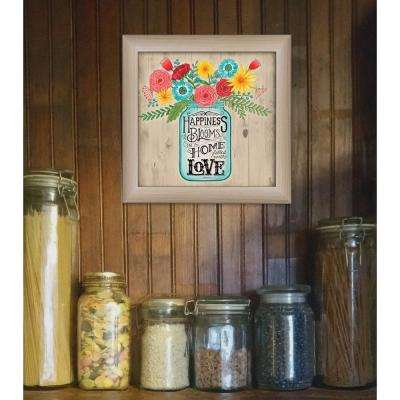 """14 in. x 14 in. """"Home Filled with Love"""" by Deb Strain Printed Framed Wall Art"""