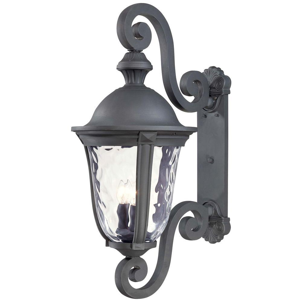 The Great Outdoors By Minka Lavery Ardmore 3 Light Black Outdoor Wall Lantern Sconce