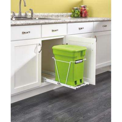 RV-1216CP-1 - Pullout Compost Container in White Frame