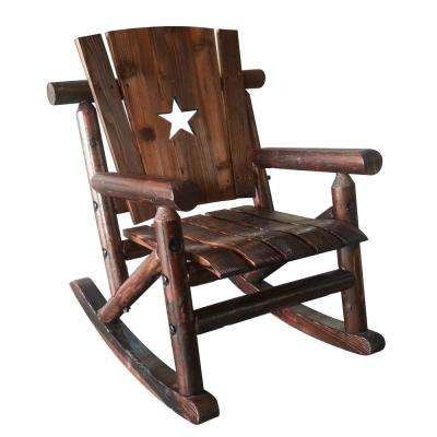 Char-Log Wood Patio Children's Outdoor Rocking Chair