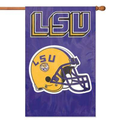 LSU Tigers Applique Banner Flag
