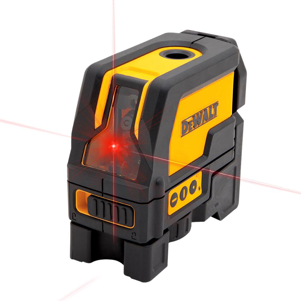 DEWALT 165 Ft. Red Self-Leveling Cross-Line And Plumb Spot