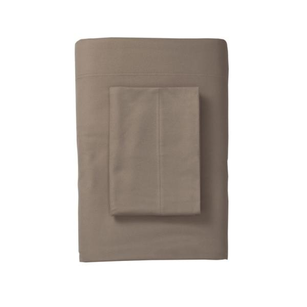The Company Store Legacy Velvet Flannel Mocha Solid California King Fitted Sheet