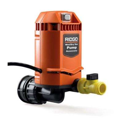 Quick Connect Pump Accessory for RIDGID Wet Dry Vacs