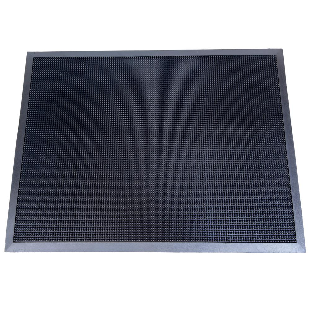 Beautiful Fingertip Black 24 In. X 32 In. Rubber Door Mat