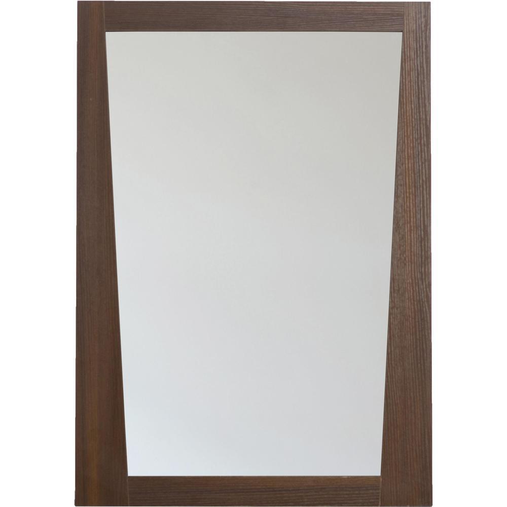 16-Gauge-Sinks 23.5 in. x 33.5 in.Single Framed Wall Mirror in Melamine Wenge
