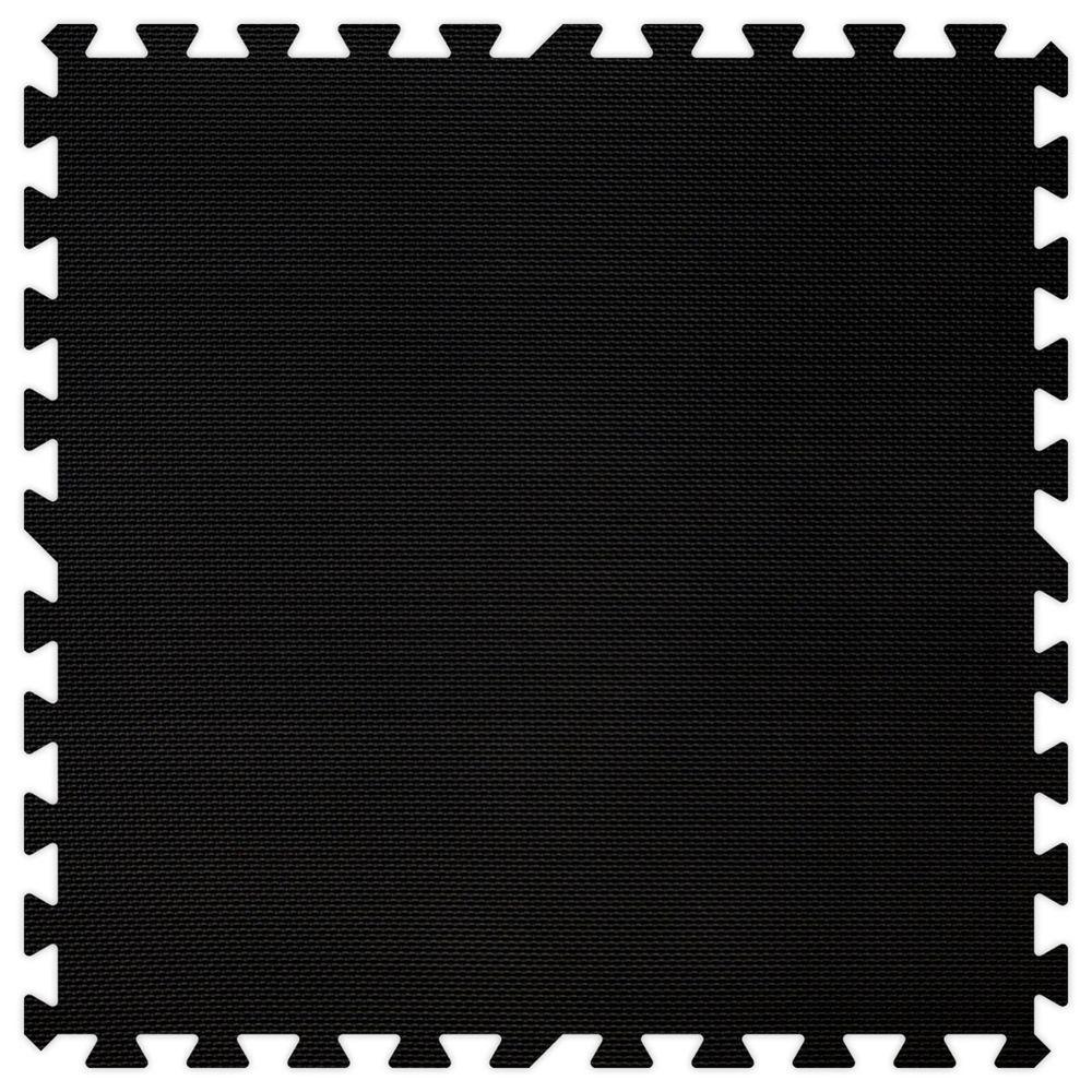 Groovy Mats Black 24 in. x 24 in. Comfortable Mat (100 sq.ft. / Case)
