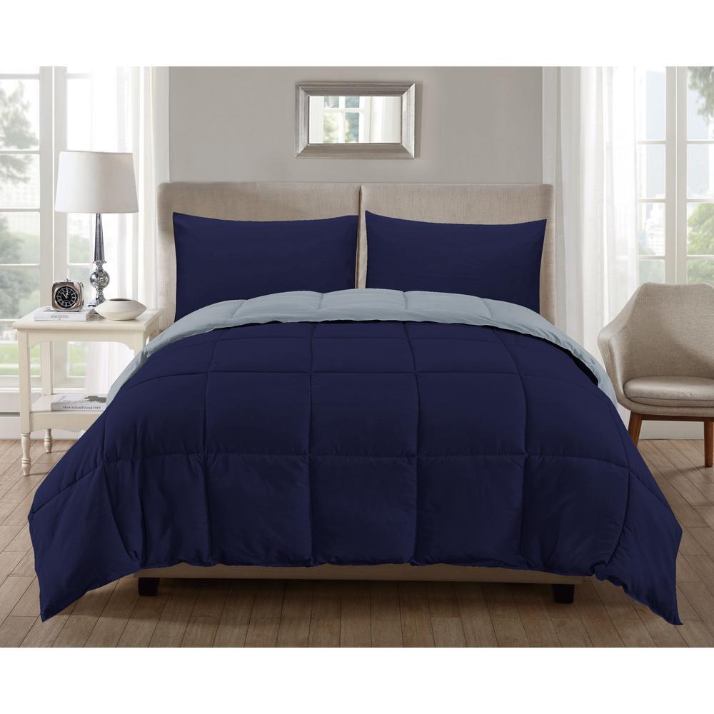 Jackson 3-Piece Dark-Blue-Light-Blue Full Comforter Set