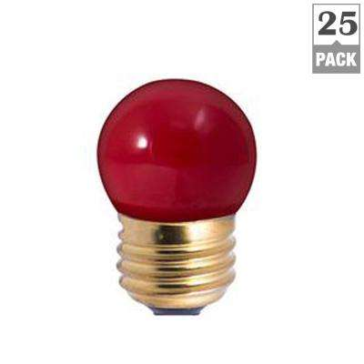 7.5-Watt S11 Ceramic Red Dimmable Incandescent Light Bulb (25-Pack)