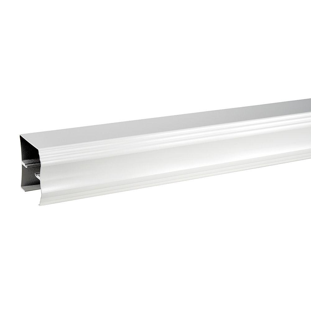 Delta 60 in. Sliding Bathtub Door Track Assembly Kit in White ...