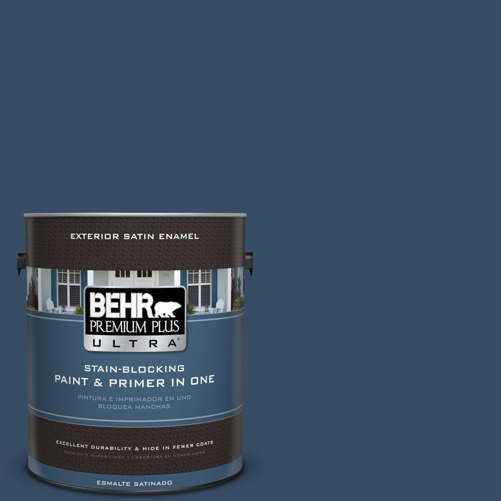 1 gal. #HDC-FL14-12 Rain Boots Satin Enamel Exterior Paint