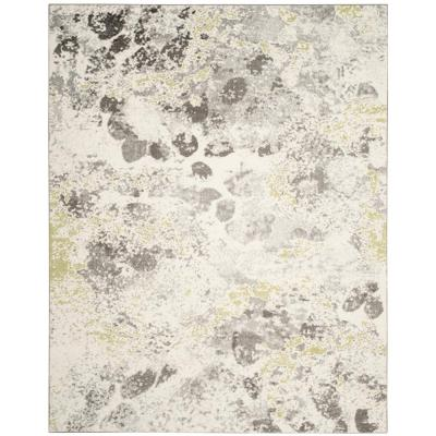 Watercolor Ivory/Gray 8 ft. x 10 ft. Area Rug
