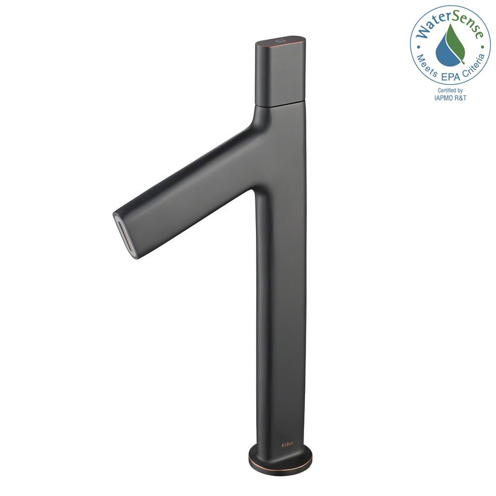 Ino Single Hole Single-Handle High-Arc Vessel Bathroom Faucet in Oil Rubbed