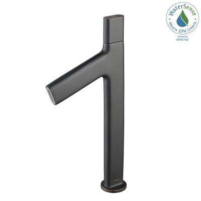Ino Single Hole Single-Handle High-Arc Vessel Bathroom Faucet in Oil Rubbed Bronze