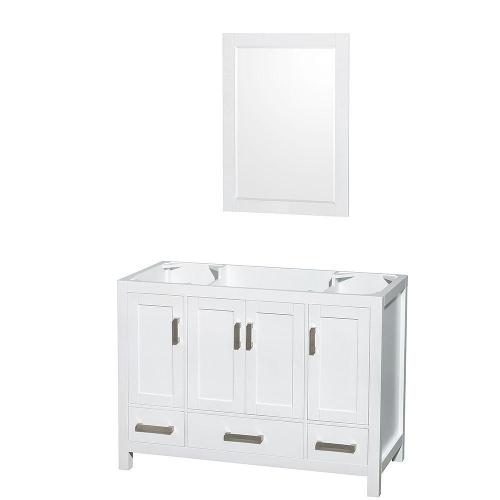 Wyndham Collection Sheffield 48 in. Vanity Cabinet with 24 in ...