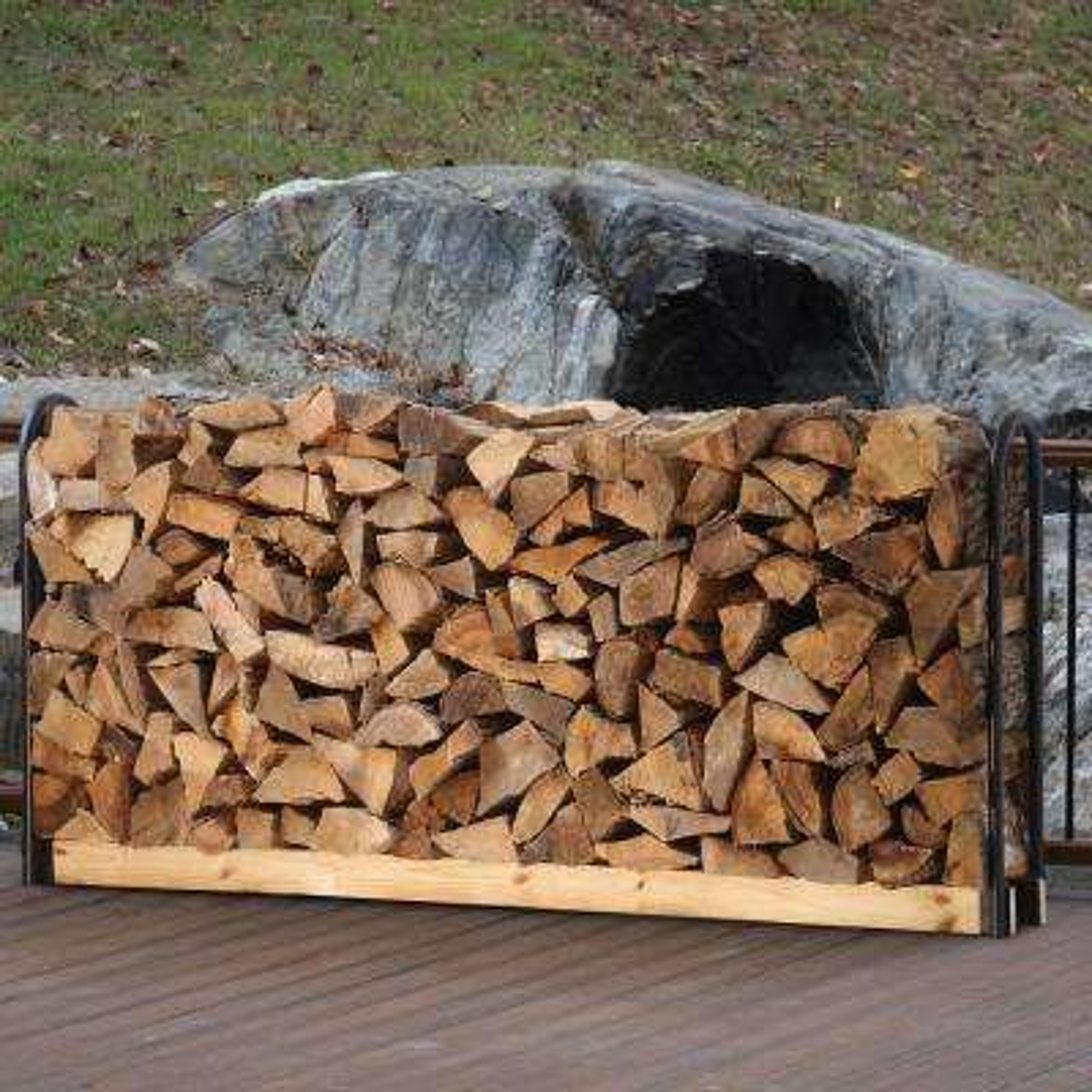 Adjustable Firewood Log Rack Storage Crib Brackets Any Length Steel