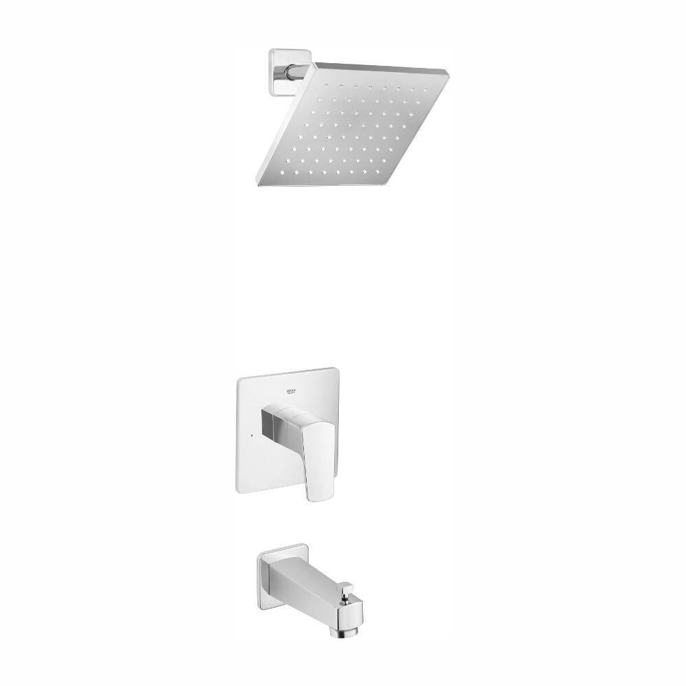 GROHE Tallinn Single-Handle 1-Spray Bathtub and Shower Faucet in StarLight Chrome (Valve Included)