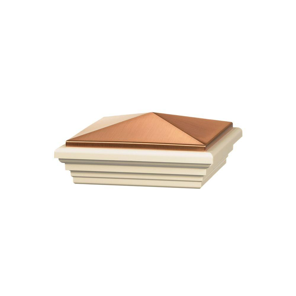 5 in. x 5 in. Vinyl Copper Stylepoint Pyramid Post Cap