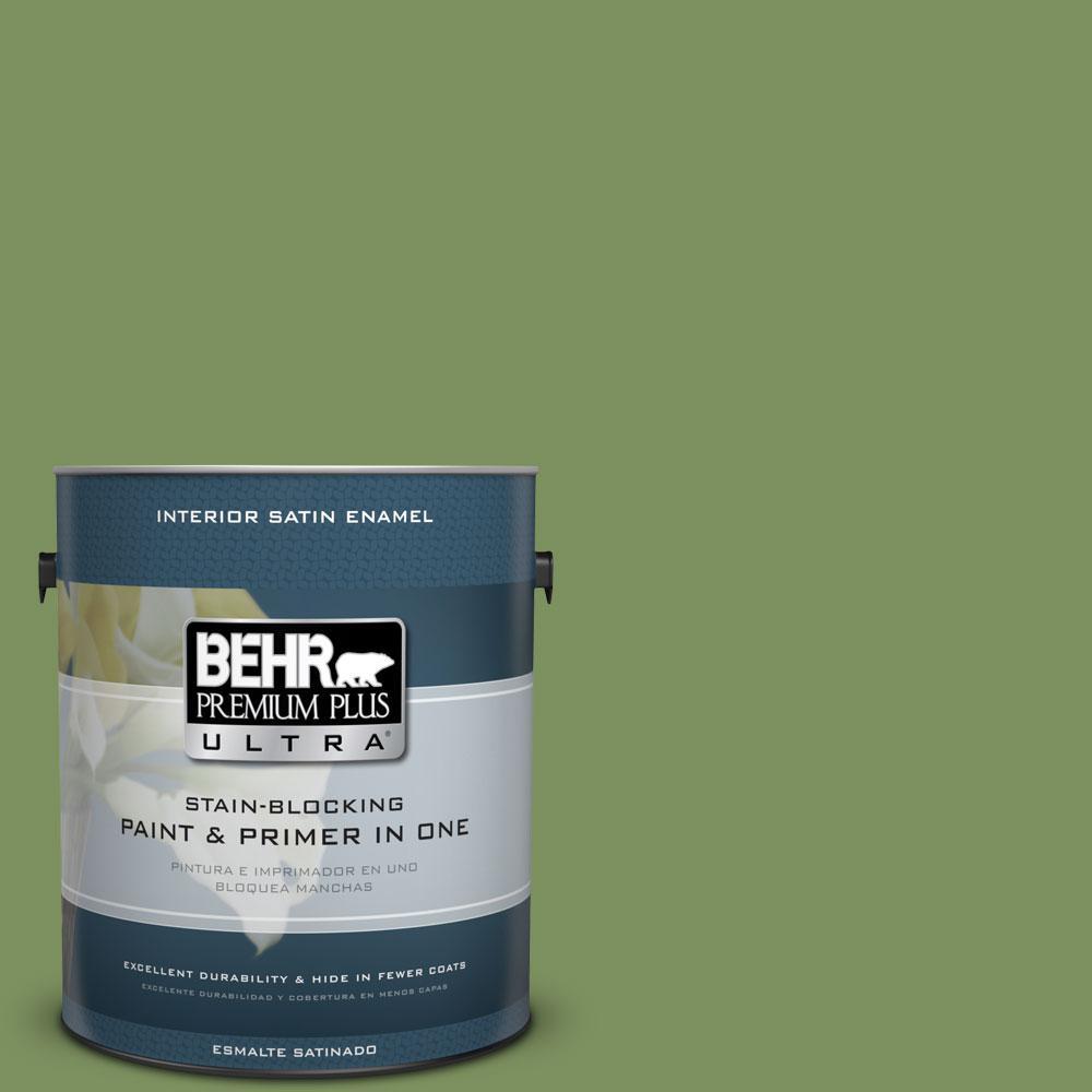 BEHR Premium Plus Ultra 1-Gal. #PPU10-3 Green Energy Sati...