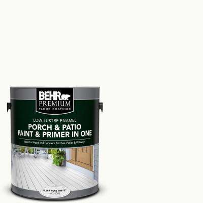 1 gal. #PFC-71 White Wall Low-Lustre Interior/Exterior Paint and Primer In One Porch and Patio Floor Paint