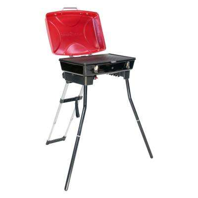 The Dash Portable Propane Gas Grill and Griddle in Red and Black