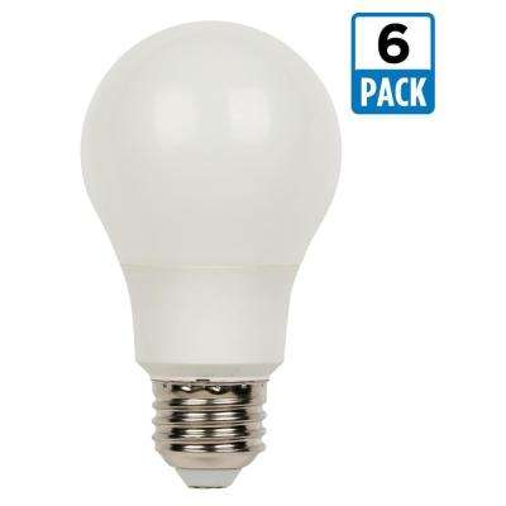 40W Equivalent Daylight Omni A19 LED Light Bulb (6-Pack)