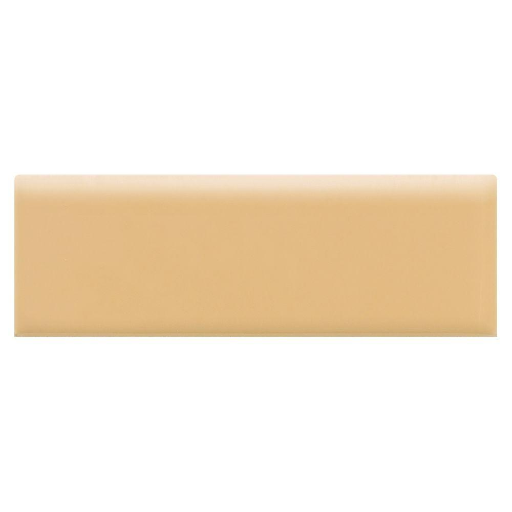 Semi-Gloss Luminary Gold 2 in. x 6 in. Ceramic Bullnose Wall