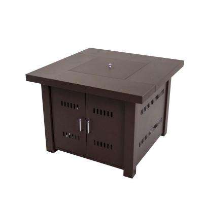Avalon 38 in. Square Gas Fire Pit Table