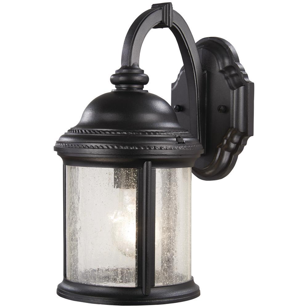Hancock 1-Light Black Outdoor Wall Lantern Sconce