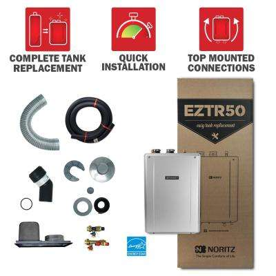 50 Gal. Tank Replacement-Liquid Propane Hi-Efficiency Indoor Tankless Water Heater w/ 12-Year Warranty and Wi-Fi Capable