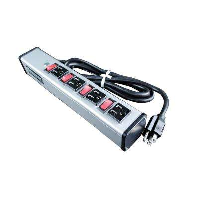 4-Outlet 15-Amp Deluxe Control Power Strip with Lighted On/Off Switch, 6 ft. Cord