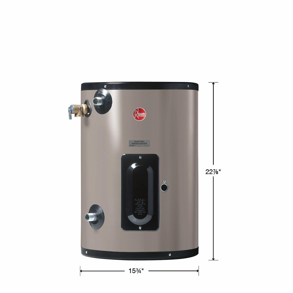 Rheem Commercial Point Of Use 10 Gal 240 Volt 2 Kw 1 Phase Electric Tank Water Heater Egsp10 240 Volt 2kw Pou The Home Depot