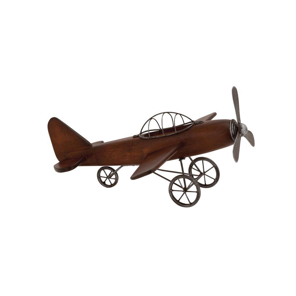 Vintage Plane Wood And Metal Decor