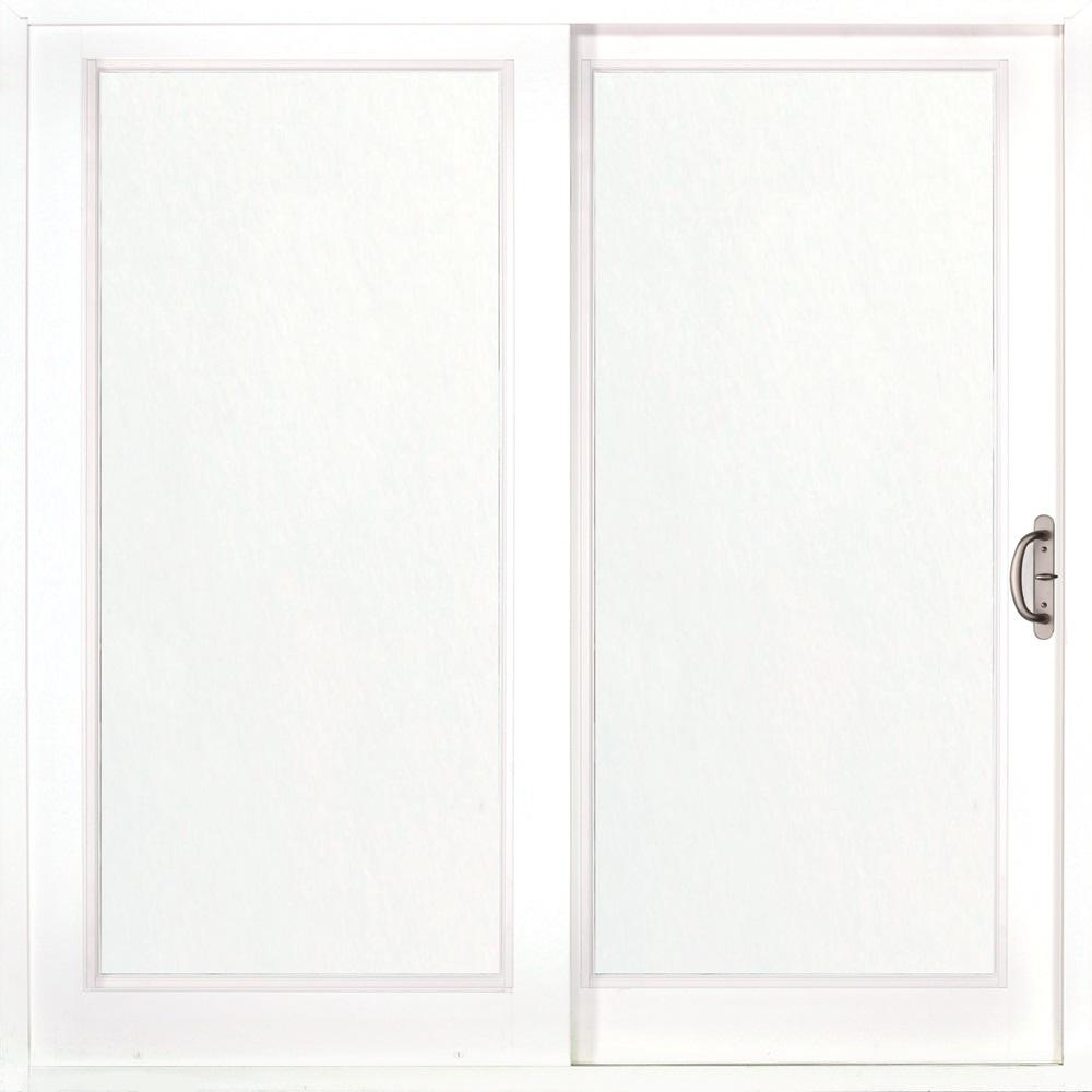 MP Doors 72 in. x 80 in. Woodgrain Interior and Smooth White Exterior Right-Hand Composite Sliding Patio Door