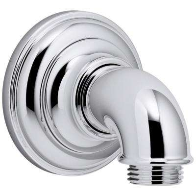 Artifacts 1/2 in. Metal 90-Degree NPT Wall-Mount Supply Elbow in Polished Chrome