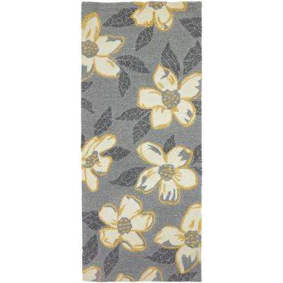 Dogwood Gray 2 ft. x 5 ft. Indoor/Outdoor Runner Rug