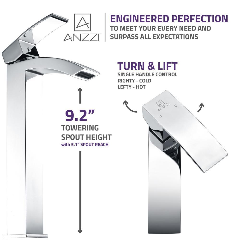 Tutti Single Hole Single-Handle Bathroom Faucet in Polished Chrome