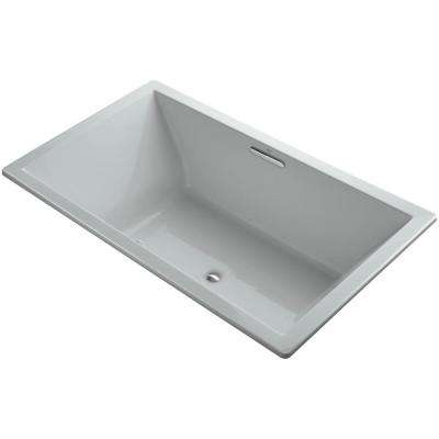Underscore 6 ft. Rectangular Drop-in Air Bath Tub in Ice Grey