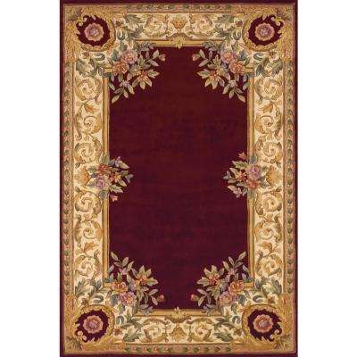 Chateau Burgundy 5 ft. x 8 ft. Indoor Area Rug
