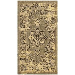 Safavieh Palazzo Yellow Black 2 Ft X 3 6 In Area Rug Pal124 9018 The Home Depot