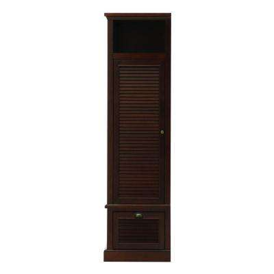 Shutter 43.5 in. H x 15.5 in. W Modular Left Locker Door in Smoky Brown