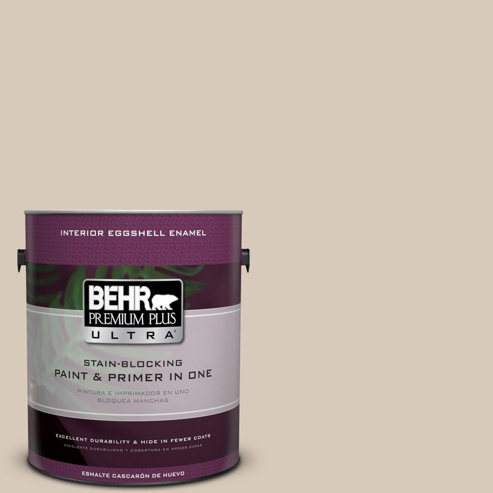 BEHR Premium Plus Ultra 1-Gal. #PPU5-12 Almond Wisp Eggshell Enamel Interior Paint
