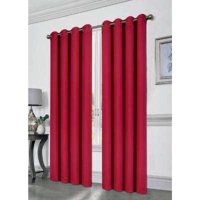 Tessa Ruby 54 in. L Grommet Blackout Panel