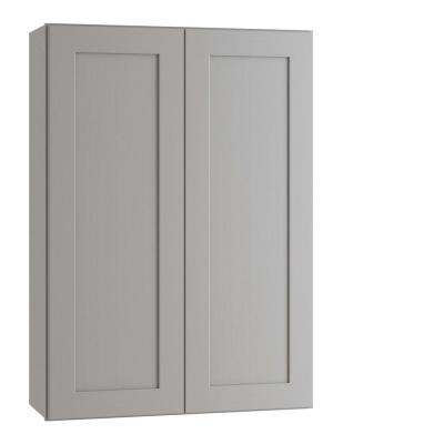 Tremont Assembled 27 x 42 x 12 in. Plywood Shaker Wall Kitchen Cabinet Soft Close in Painted Pearl Gray