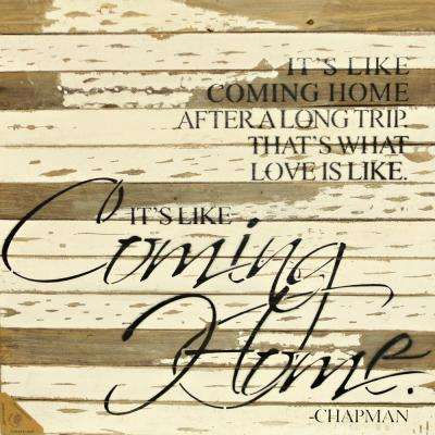 """Like Coming Home"" Reclaimed Wood Decorative Sign"