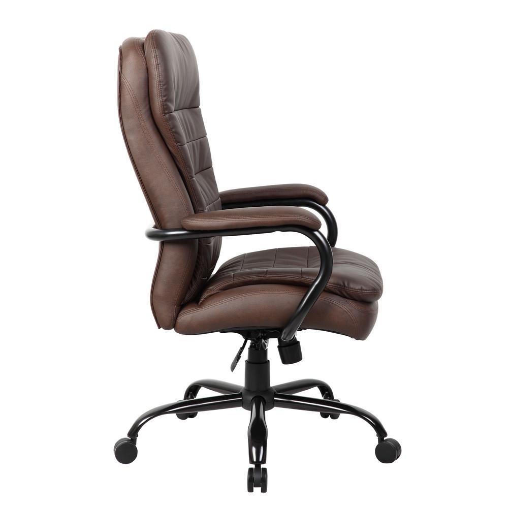 +3. Boss Brown Heavy Duty Double Plush Chair